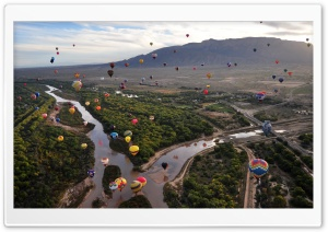 Balloon Fiesta At The Rio Grande In Albuquerque HD Wide Wallpaper for 4K UHD Widescreen desktop & smartphone