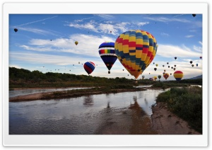 Balloons Over The Rio Grande HD Wide Wallpaper for Widescreen