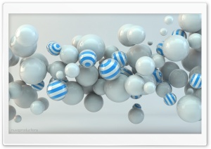 Balls 3D HD Wide Wallpaper for Widescreen