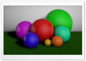 Balls in Grass HD Wide Wallpaper for Widescreen