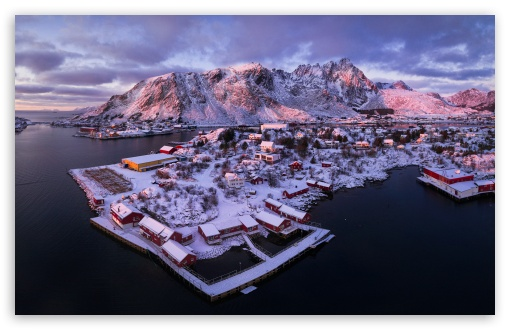 Download Ballstad village, Lofoten islands, Norway,... HD Wallpaper