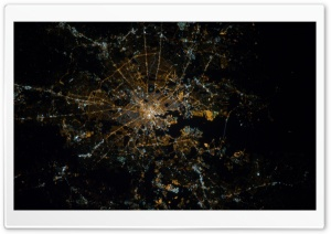 Baltimore, Maryland at Night - Nasa, International Space Station HD Wide Wallpaper for 4K UHD Widescreen desktop & smartphone