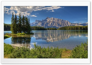 Banff Park Alberta Canada Trees HD Wide Wallpaper for 4K UHD Widescreen desktop & smartphone