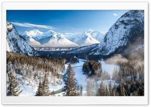 Banff Park Beautiful Winter HD Wide Wallpaper for 4K UHD Widescreen desktop & smartphone