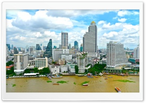 Bangkok City HD Wide Wallpaper for Widescreen