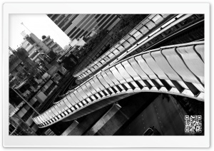 Bangkok, Thailand Black And White HD Wide Wallpaper for Widescreen