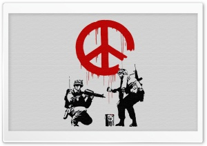 Banksy Peace HD Wide Wallpaper for Widescreen