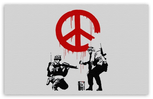 Banksy Peace HD wallpaper for Wide 16:10 5:3 Widescreen WHXGA WQXGA WUXGA WXGA WGA ; HD 16:9 High Definition WQHD QWXGA 1080p 900p 720p QHD nHD ; Standard 4:3 5:4 3:2 Fullscreen UXGA XGA SVGA QSXGA SXGA DVGA HVGA HQVGA devices ( Apple PowerBook G4 iPhone 4 3G 3GS iPod Touch ) ; Tablet 1:1 ; iPad 1/2/Mini ; Mobile 4:3 5:3 3:2 16:9 5:4 - UXGA XGA SVGA WGA DVGA HVGA HQVGA devices ( Apple PowerBook G4 iPhone 4 3G 3GS iPod Touch ) WQHD QWXGA 1080p 900p 720p QHD nHD QSXGA SXGA ;