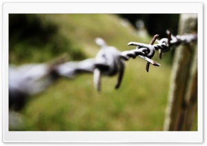 Barbed Wire Bokeh HD Wide Wallpaper for Widescreen