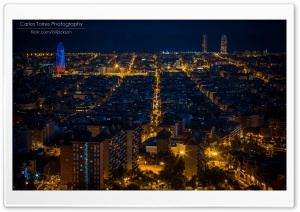 Barcelona At Night Ultra HD Wallpaper for 4K UHD Widescreen desktop, tablet & smartphone