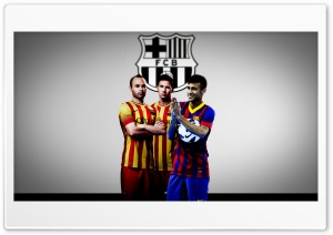 Barcelona FC Season 2013-2014 HD Wide Wallpaper for 4K UHD Widescreen desktop & smartphone