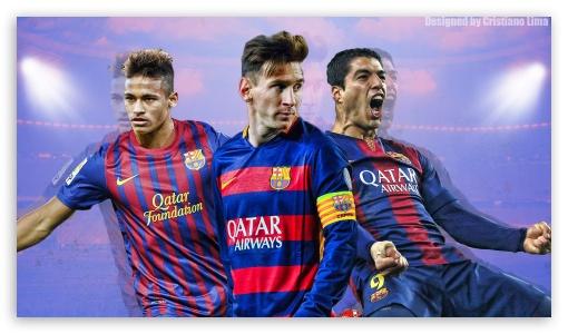 Barcelona Trio - Messi, Suarez and Neymar UltraHD Wallpaper for 8K UHD TV 16:9 Ultra High Definition 2160p 1440p 1080p 900p 720p ; Mobile 16:9 - 2160p 1440p 1080p 900p 720p ;