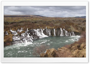 Barnafoss Waterfall HD Wide Wallpaper for Widescreen