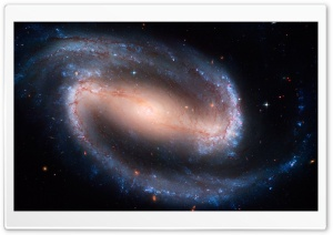 Barred Spiral Galaxy HD Wide Wallpaper for Widescreen