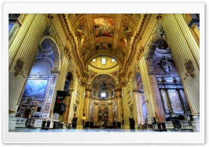 Basilica Sant Andrea della Valle HD Wide Wallpaper for 4K UHD Widescreen desktop & smartphone