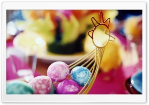 Basket Of Easter Eggs HD Wide Wallpaper for Widescreen