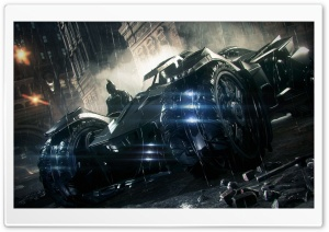 Bat and Batmobile HD Wide Wallpaper for Widescreen