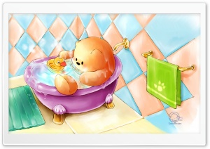 Bathe With Ducky HD Wide Wallpaper for Widescreen