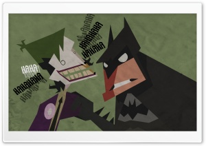 Batman And Joker Cartoon HD Wide Wallpaper for Widescreen