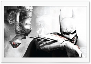 Batman Arkham City - Batman & Catwoman HD Wide Wallpaper for Widescreen