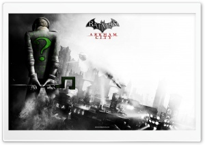 Batman Arkham City - Riddler HD Wide Wallpaper for 4K UHD Widescreen desktop & smartphone