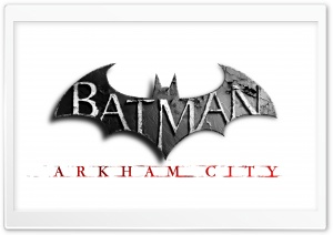 Batman Arkham City Official Logo HD Wide Wallpaper for 4K UHD Widescreen desktop & smartphone