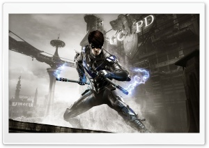 Batman Arkham Knight Nightwing HD Wide Wallpaper for 4K UHD Widescreen desktop & smartphone