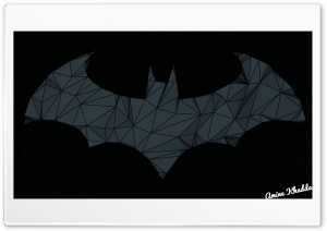 Batman Arkham Origins Low Poly Logo 2 HD Wide Wallpaper for Widescreen