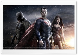Batman Vs. Superman Vs. Wonder Woman HD Wide Wallpaper for 4K UHD Widescreen desktop & smartphone