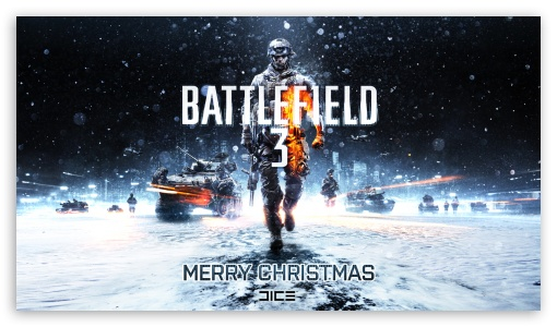 Battlefield 3 (Chistmas) HD wallpaper for HD 16:9 High Definition WQHD QWXGA 1080p 900p 720p QHD nHD ; Mobile 4:3 16:9 - UXGA XGA SVGA WQHD QWXGA 1080p 900p 720p QHD nHD ;