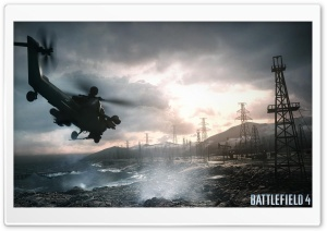 Battlefield 4 Chopper Sea HD Wide Wallpaper for Widescreen