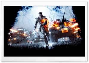 Battlefield 4 Dark HD Wide Wallpaper for Widescreen