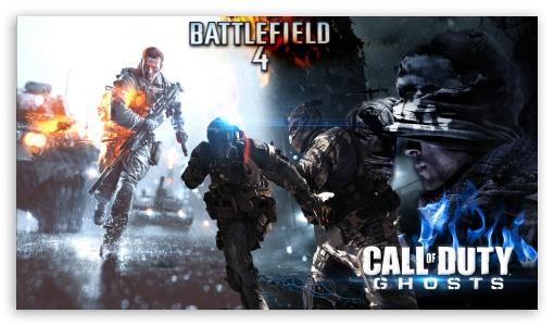 Download Battlefield 4 Vs Call Of Duty Ghosts HD Wallpaper