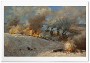 Battlefield Painting HD Wide Wallpaper for Widescreen