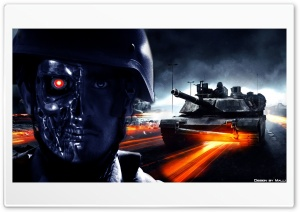 Battlefield vs. Terminator HD Wide Wallpaper for Widescreen