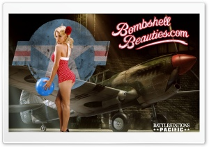 Battlestation Pacific Bombshell Beauties Pin-up HD Wide Wallpaper for Widescreen