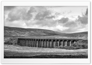 Batty Moss Viaduct Black and White Ultra HD Wallpaper for 4K UHD Widescreen desktop, tablet & smartphone