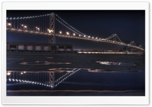 Bay Bridge At Night HD Wide Wallpaper for 4K UHD Widescreen desktop & smartphone