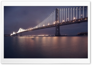 Bay Lights, Rain HD Wide Wallpaper for 4K UHD Widescreen desktop & smartphone