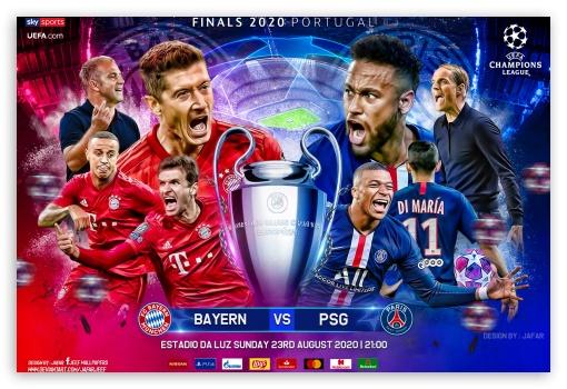 Bayern Munchen Paris Saint Germain Champions League Final Ultra Hd Desktop Background Wallpaper For