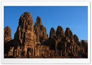 Bayon Temple In Cambodia HD Wide Wallpaper for 4K UHD Widescreen desktop & smartphone