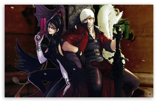 Bayonetta And Dante   Devil May Cry HD wallpaper for Wide 16:10 5:3 Widescreen WHXGA WQXGA WUXGA WXGA WGA ; HD 16:9 High Definition WQHD QWXGA 1080p 900p 720p QHD nHD ; Standard 4:3 5:4 3:2 Fullscreen UXGA XGA SVGA QSXGA SXGA DVGA HVGA HQVGA devices ( Apple PowerBook G4 iPhone 4 3G 3GS iPod Touch ) ; Tablet 1:1 ; iPad 1/2/Mini ; Mobile 4:3 5:3 3:2 16:9 5:4 - UXGA XGA SVGA WGA DVGA HVGA HQVGA devices ( Apple PowerBook G4 iPhone 4 3G 3GS iPod Touch ) WQHD QWXGA 1080p 900p 720p QHD nHD QSXGA SXGA ; Dual 16:10 5:3 16:9 4:3 5:4 WHXGA WQXGA WUXGA WXGA WGA WQHD QWXGA 1080p 900p 720p QHD nHD UXGA XGA SVGA QSXGA SXGA ;