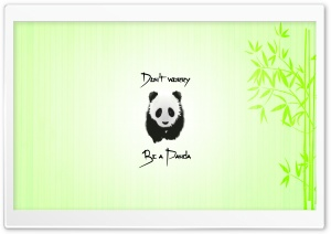 Be a Panda Ultra HD Wallpaper for 4K UHD Widescreen desktop, tablet & smartphone