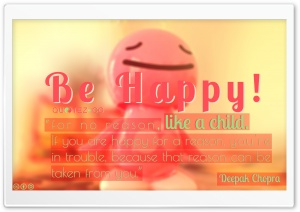 Be Happy Like a Child HD Wide Wallpaper for Widescreen