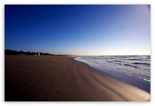 Beach HD wallpaper for Mobile 3:2 - DVGA HVGA HQVGA devices ( Apple PowerBook G4 iPhone 4 3G 3GS iPod Touch ) ;