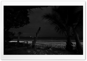 Beach At Night HD Wide Wallpaper for Widescreen