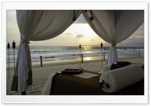 Beach Bed HD Wide Wallpaper for Widescreen