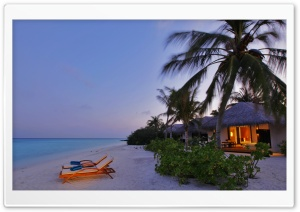 Beach Bungalows HD Wide Wallpaper for Widescreen