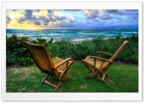 Beach Chairs HD Wide Wallpaper for Widescreen