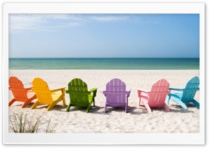Beach Chairs HD Wide Wallpaper for 4K UHD Widescreen desktop & smartphone